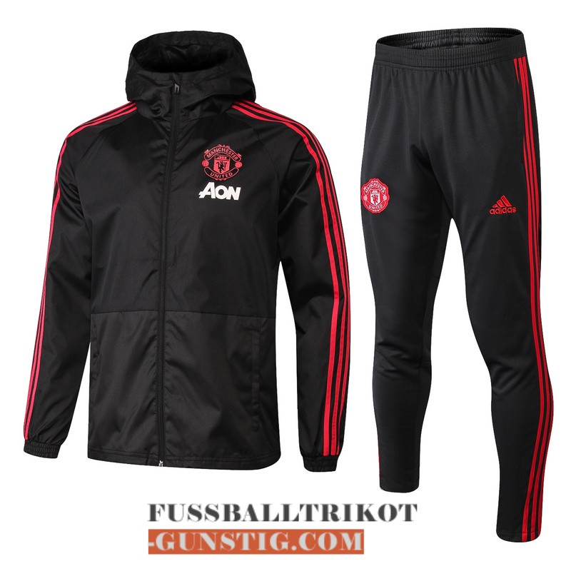 2018-2019 windbreaker schwarz manchester united