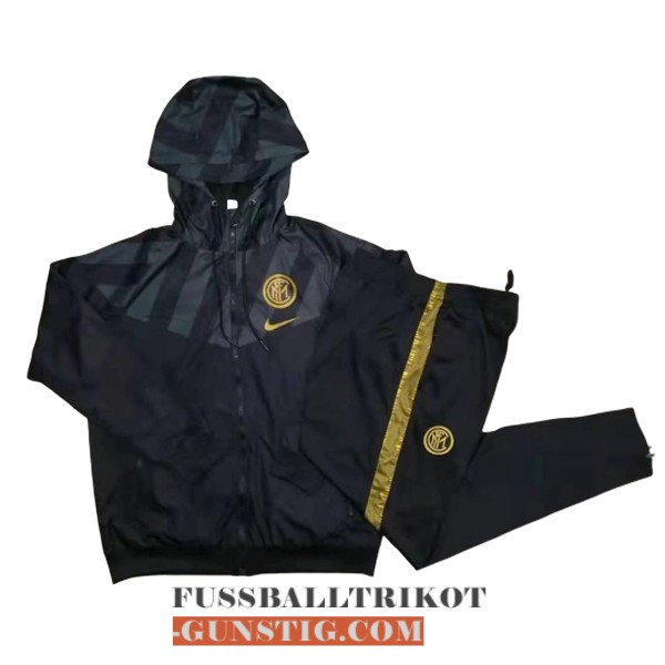 2019-2020 windbreaker schwarz inter miland