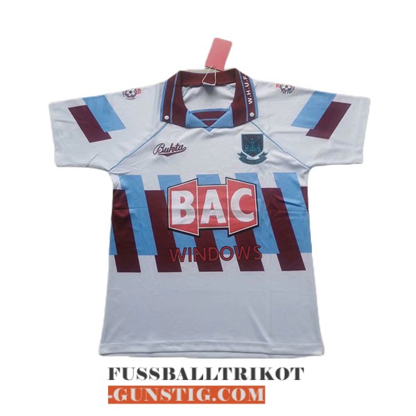 trikot 1991-1992 west ham united retro alternativ