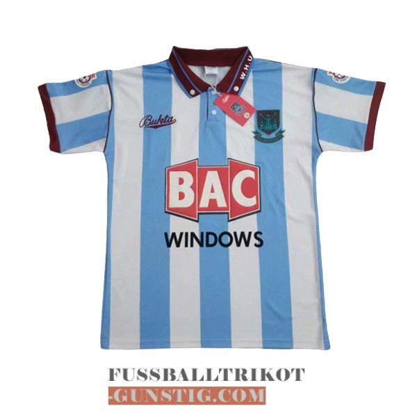 trikot 1991-1992 west ham united retro auswarts