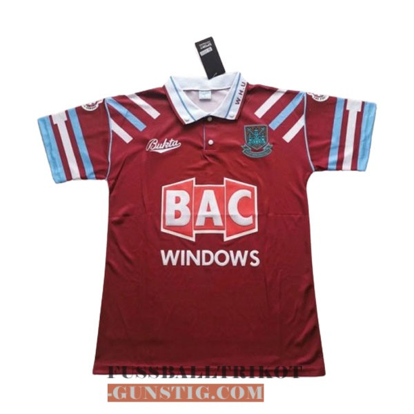 trikot 1991-1992 west ham united retro heim