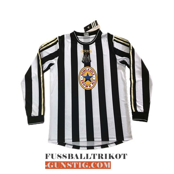 trikot 1997-1999 lange armel retro newcastle united heim