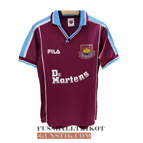 trikot 1999-2001 west ham united retro heim