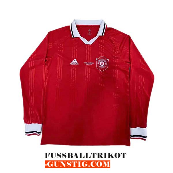 trikot lange armel rot schulung manchester united 2021-2022