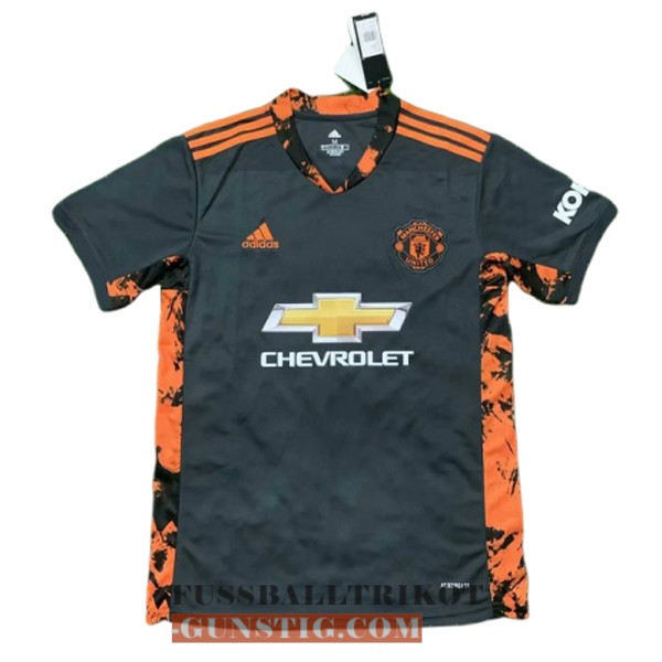 trikot manchester united schwarz orange torwart 2020-2021