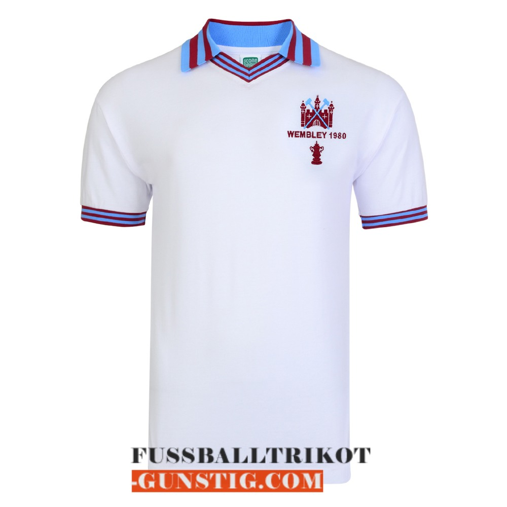 trikot 1980 west ham united champions league retro